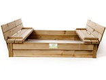 Just for Kids - Folding bench sandpits open