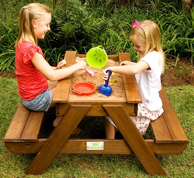 Magnificent Kids Picnic Table With Sand Tray With Detachable Top Pabps2019 Chair Design Images Pabps2019Com