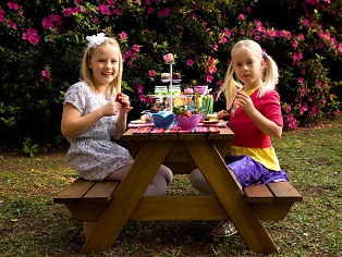 Just for Kids - Picnic Table with kids playing
