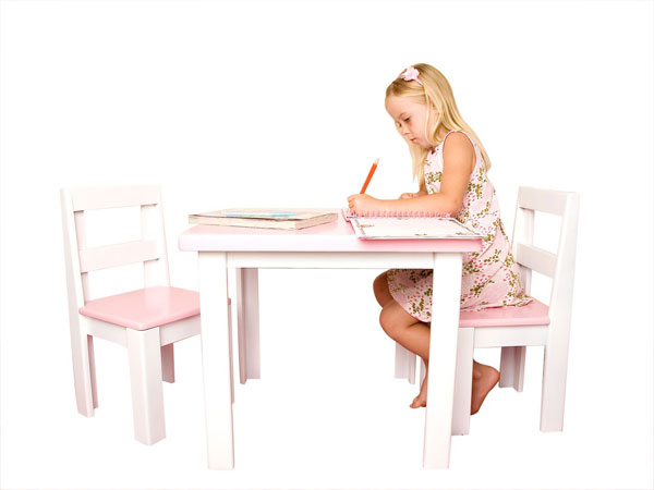 Just for Kids - Kids Table & Chair Set with girl